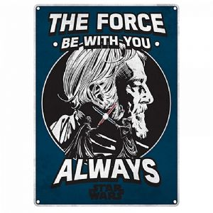 Star Wars The Force Be With You Always small steel sign 210mm x 150mm (hb)